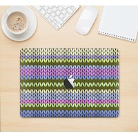 """The Colorful Knit Pattern Skin Kit for the 12"""" Apple MacBook (A1534)"""