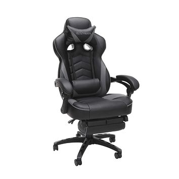 RESPAWN RSP-110 Reclining Ergonomic Gaming Chair with Footrest in Gray