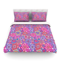 "Julia Grifol ""My Happy Flowers"" Queen Fleece Duvet Cover - Outlet Item"
