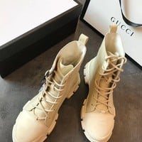 GUCCI Canvas High-top Sneaker