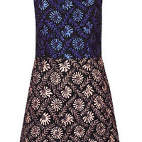 **LIMITED EDITION TWO TONE APPLIQUE DRESS