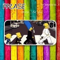 The simpson in beatle style : Case For Iphone 4/4s ,5 / SamsungS2,3,4