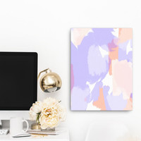 Lavender - soft purple and peach abstract art - wrapped canvas art / 12x16 / 16x20 / 18x24