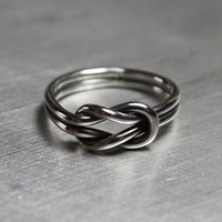 Knot Ring, Silver Knot Ring, Double Knot Ring
