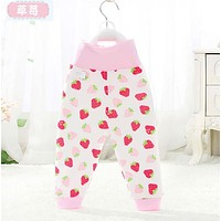 Baby Pants cotton Boys Pants with cartoon print knitted toddler girl Leggings elastic waist busha pp pant trousers baby clothes