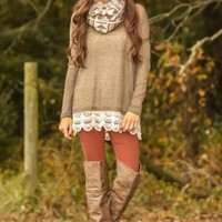 Familiar Ways Sweater-Mocha