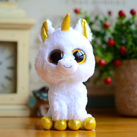Ty Beanie Boos Kids Plush Toys Big Eyes White Unicorn Lovely Children Gifts Kawaii Stuffed Animals Dolls Cute Christmas Present