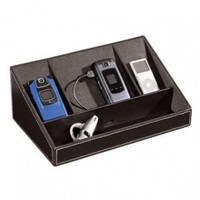 Desktop Electronics Charging Station Ipod Mp3 Faux Leather Mobile Games Devices:Amazon:Everything Else