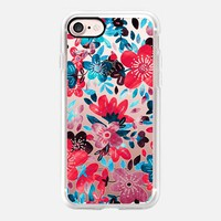 Happy Red Flower Collage - transparent iPhone 7 Case by Micklyn Le Feuvre | Casetify