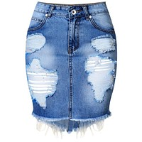 Mini Denim Skirt Women 2016 Summer Casual Split High Waist Short Jeans Skirt Irregular Sexy Pencil Skirts Womens Jupe Faldas