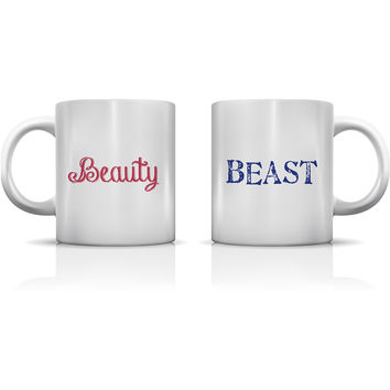 """Beauty & Beast"" Set of Mugs by OneBellaCasa"