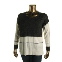 Vince Camuto Womens Knit Long Sleeves Pullover Sweater