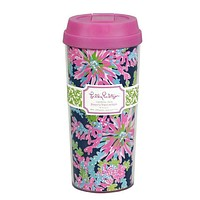 Thermal Mug in Navy Trippin' and Sippin'  by Lilly Pulitzer