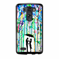 Love Song Romantic In The Rain Paint LG G3 Case