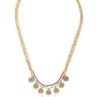 Medallion Layered Necklace