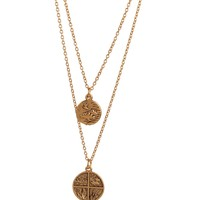 Bee Charming Jewelry Wind Double Elements Necklace