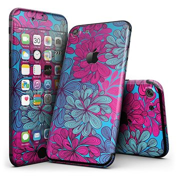 Vibrant Colorful Floral Sprouts - 4-Piece Skin Kit for the iPhone 7 or 7 Plus