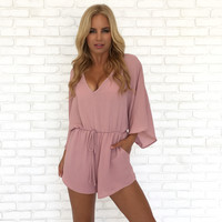 You Make Me Blush Pink Romper