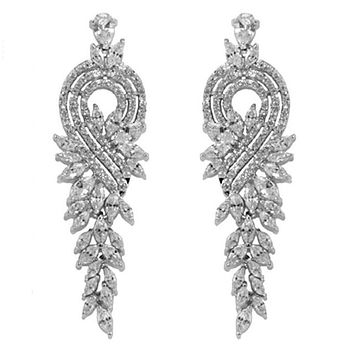Delphina Marquise Chandelier Earrings | 59mm