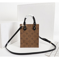 LV Louis Vuitton MONOGRAM CANVAS MINI ONTHEGO HANDBAG INCLINED SHOULDER BAG