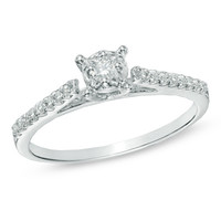 1/5 CT. T.W. Diamond Promise Ring in 10K White Gold - View All Jewelry - Gordon's Jewelers