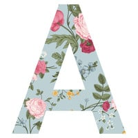 Afternoon Blooms Patterned Letter Wall Decal