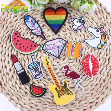 KEY Patch Food DIY Small Cheap Embroidered Cute Patches Hippie Iron On Patches