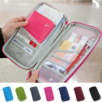 Travel Passport Credit ID Card Holder Cash Wallet Organizer Bag Purse Wallet Fashion
