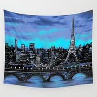 Eiffel Tower ~ Paris France Wall Tapestry by RokinRonda