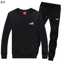 PUMA 2018 autumn and winter new round neck sweater sports trousers sportswear two-piece #4