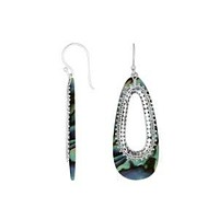 AE-1160-AB Sterling Silver Earring With Abalone Shell