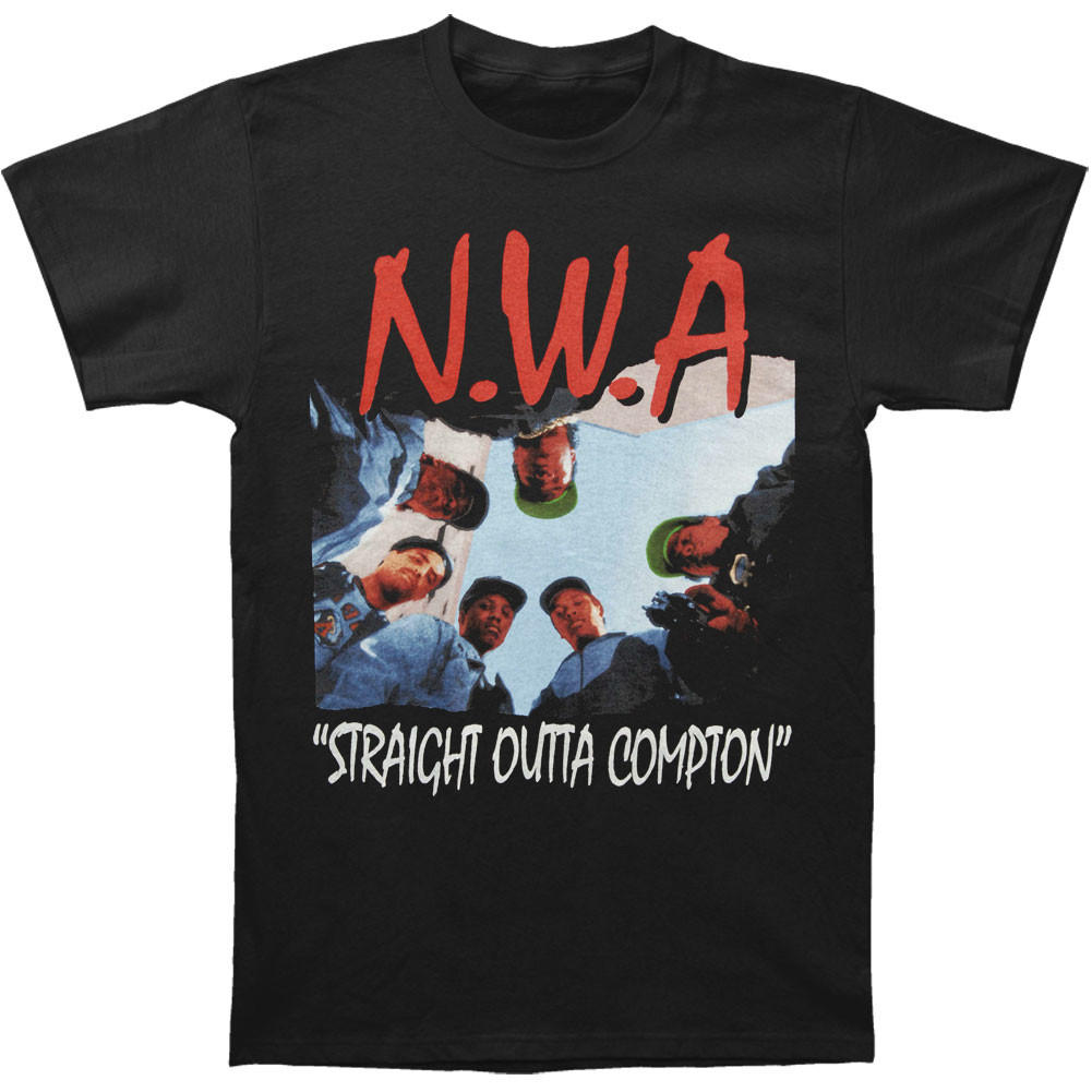 Image of N.W.A. Men's  Straight Outta Compton T-shirt Black