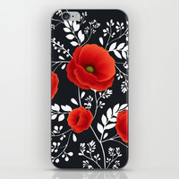 Poppy graphic iPhone Skin by lilavert