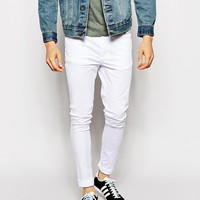 ASOS Extreme Super Skinny Trousers In White