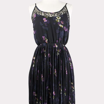 Sunray Pleated Floral Dress