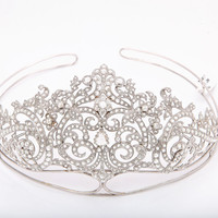 Exquisite Rose Cut Diamond Tiara