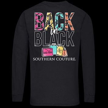 Southern Couture Classic Back in Black Friday Long Sleeve T-Shirt