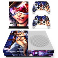 D.Va Vinyl Skin Sticker for the Xbox One S Console With Two Wireless Controller Decals