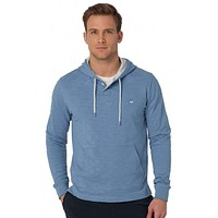 Slub Knit Pullover Hoodie in Ocean Channel by Southern Tide