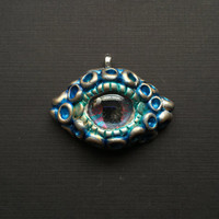 Blue Dragon Eye Pendant for necklace, keyring