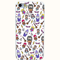 Harry Potter Style Hard White Case  for iPhone 4 4s 5 5s 6 6s 6 plus