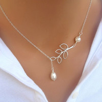 Necklace Elegant Classical Silver Plated Romantic Pearl Clavicle Jewelery