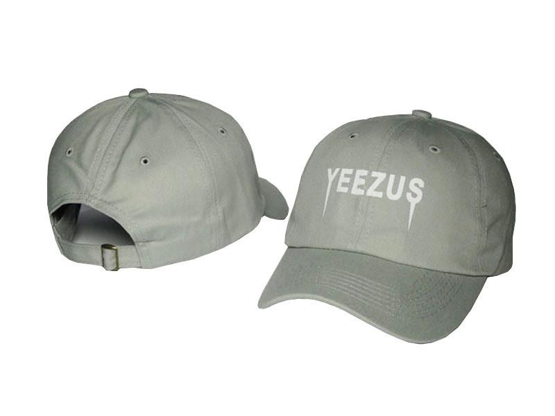 Image of Kanye West Yeezus Mens Womens Gray Strapback Hat Cap Baseball Cap Embroidery Fitted Trucker Sun Hat