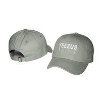 Kanye West Yeezus Mens Womens Gray Strapback Hat Cap Baseball Cap Embroidery Fitted Trucker Sun Hat