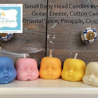 Small Baby Head Candles