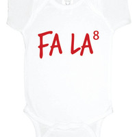 Christmas nerd baby one piece fa la to the 8th power, holiday baby bodysuit, baby girl clothes, baby boy, gift under 20