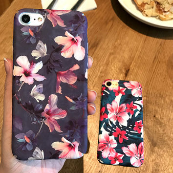 Painting Floral  iPhone X 8 7 7Plus & iPhone 6s 6 Plus Case +Gift Box