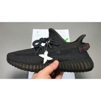 [Original BASF Boost + Built Materials] *GOD StockX Version* adidas Yeezy Boost 350 V2 Static Black Reflective FU9007