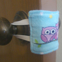 Owls and Stars Nursery Door Muffler / Silencer