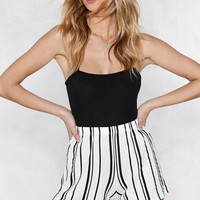 Out of Line Striped Shorts